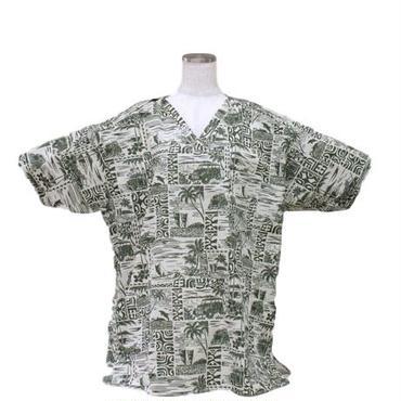 男性用  No.3258   L  医療用、介護用スクラブシャツ  No.3258 ハワイアン5582