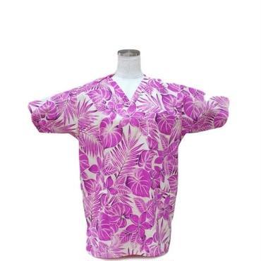 女性用 No.5568  S      ハワイアン         医療用、介護用スクラブシャツ
