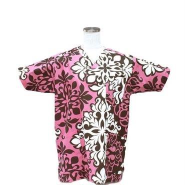 女性用 No.5568        ハワイアン         医療用、介護用スクラブシャツ