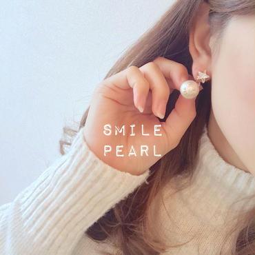 再再販!smile pearl◡̈⃝starイヤリング