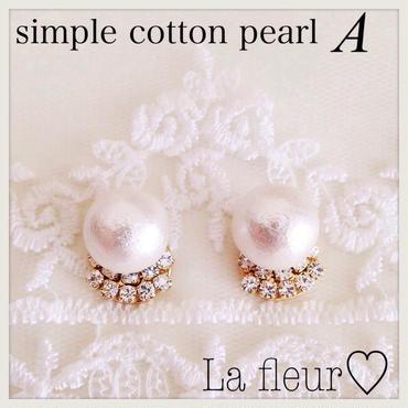 再再販♡simple cotton pearl♡ピアス イヤリング〔A〕