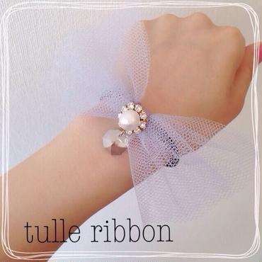 tulle ribbon♡ヘアゴム