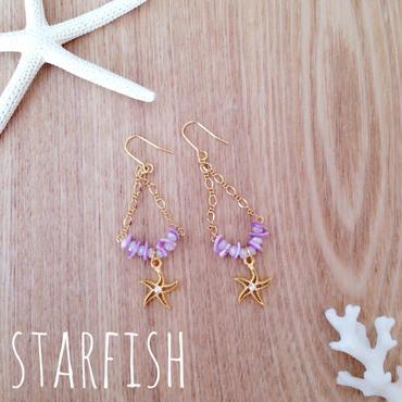 再販!starfish♡purple ピアス イヤリング