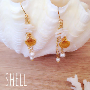 white coral♡ピアス イヤリング