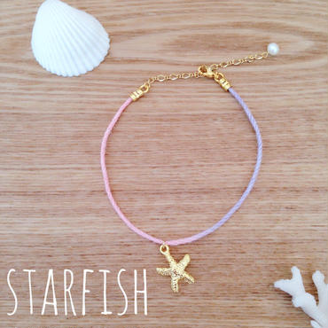 rainbow anklet♡starfish