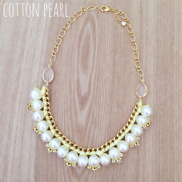 再販!cotton pearl♡ネックレス yellow