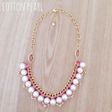 新色!cotton pearl♡ネックレス coral