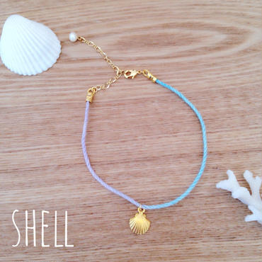 rainbow anklet♡shell