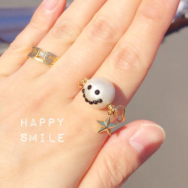 ラスト1点!happy smile♡ring