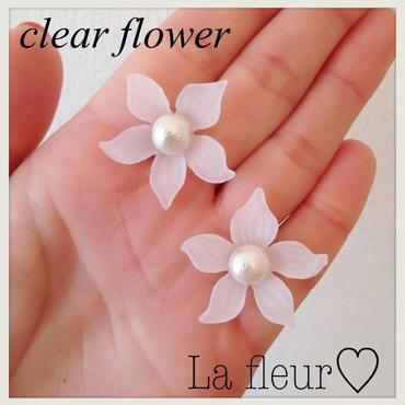 再販!clear flower♡ピアス イヤリング