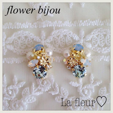 flower bijou♡ピアス イヤリング