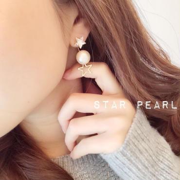 7回目の再販♡star pearlキャッチ☆2wayピアス