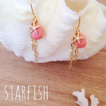 14k mini starfish♡ピアス イヤリング