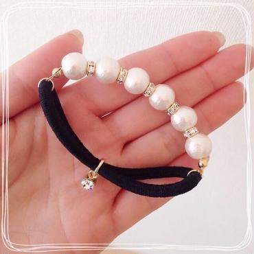 cotton pearl♡ヘアゴム