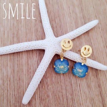 happy smile♡ピアス k18コーティング