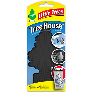 LITTLE TREES Tree House Black with Pure Steel