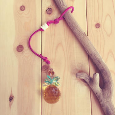 pineapple sun catcher*pink