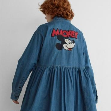LAZY OAF / MICKEY MOUSE LOOSE DENIM DRESS
