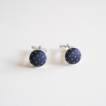 silk dot cuff links