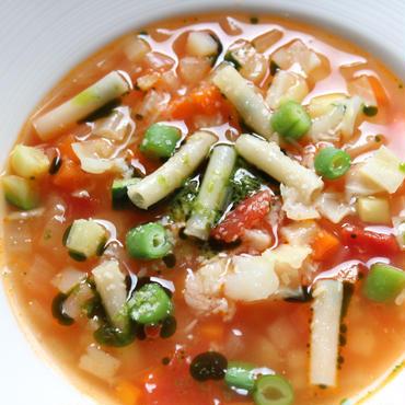 南仏風ミネストローネスープ、フレッシュバジル風味 ( Soupe Minestrone au pistou ) / 約300g