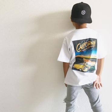 CaliforniaバックプリントTシャツ/white