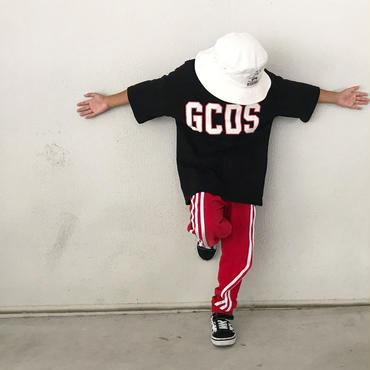 white×redロゴTシャツ/black