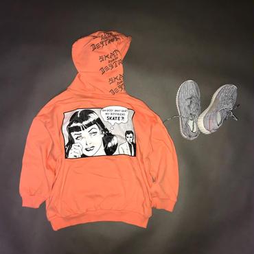 【再入荷】カラーパーカー/orange