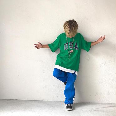 USAロゴTシャツ/green