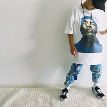 プリントTシャツ/white
