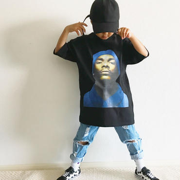 プリントTシャツ/black