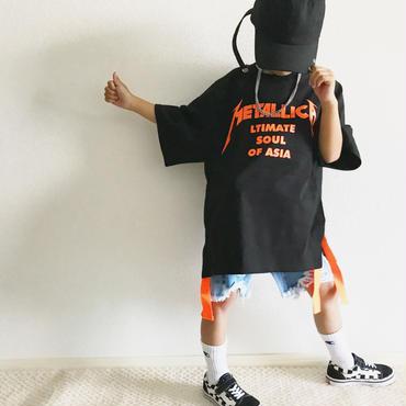 neonロゴTシャツ/black×n.ora