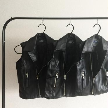 OR60  ライダースベスト/black