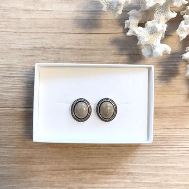 《NEW》silver925 beige pierce