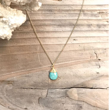 《14kgf》turquoise necklace