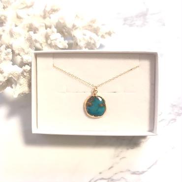 《14kgf》turquoise necklace typeB