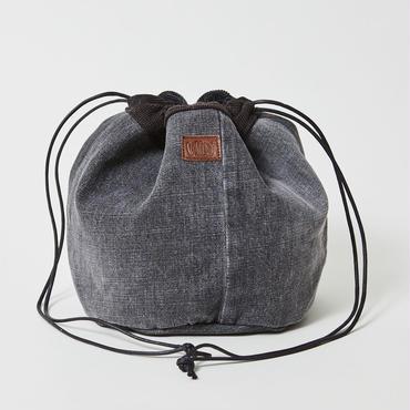 レターズ 巾着バッグ #ブラックデニム×コーデュロイ-06