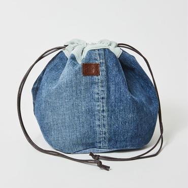 レターズ 巾着バッグ #デニム×コーデュロイ-04