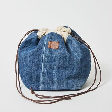 レターズ 巾着バッグ #デニム×コーデュロイ-05