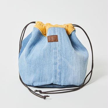 レターズ 巾着バッグ #デニム×コーデュロイ-06