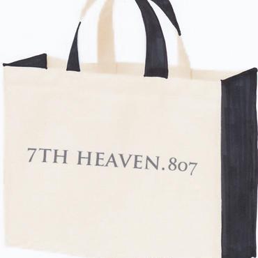 2トーンカラートートバッグM(ブラック)-7TH HEAVEN.807-