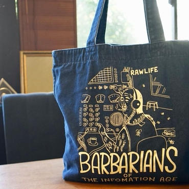 BARBARIANS  tote bag /  Large size