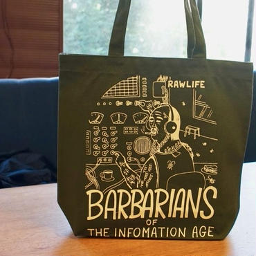 BARBARIANS  tote bag /  Small size  OLIVE