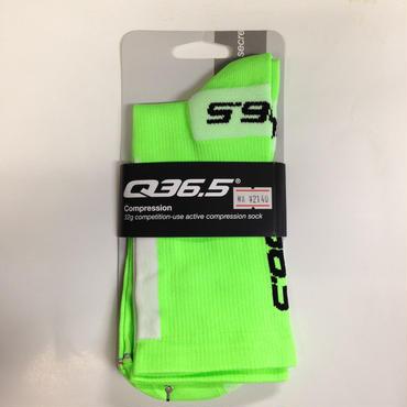 Q36.5 Compression コンプレッション ソックス Green Fluo