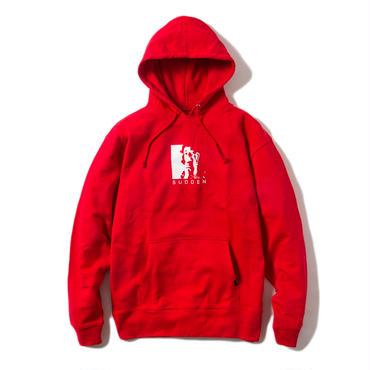 -VICTIM- HOODIE (RED)