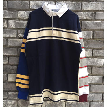 【COLUMBIA KNIT】1000pj practic rugby shirt  Mサイズ