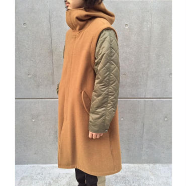 【NOMA t.d.】 Quilting sleeve over coat