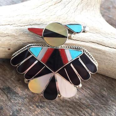 【Zuni】inlay bird pins タイプB