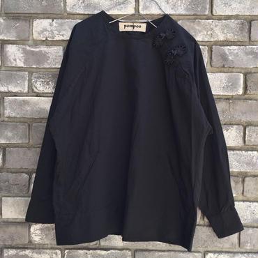 【pompon】チャイナボタン プルオーバーシャツ