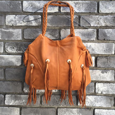 期間限定【E.V.T】Mohave Deerskin Bag with TUSSELS