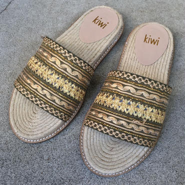 【kiwi】 Jute sandals 刺繍 ジュートサンダル